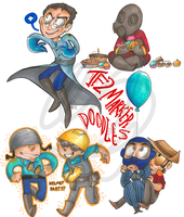 tf2 marker doodles by loneyqua