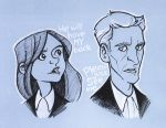 Doctor'n'Clara doodle by sn0otchie