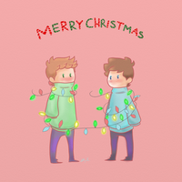 Merry Destiel Christmas by PinkBucky