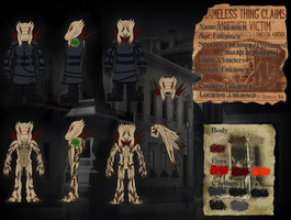 Nameless Creature refference sheet by OrionTHedgehog