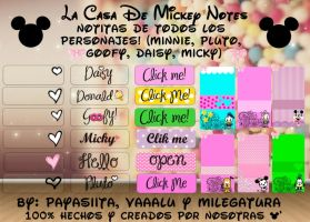 La casa de Mickey Notes by Milegatura