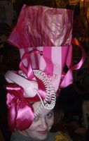 pink telephone hat by thecostumedesigner
