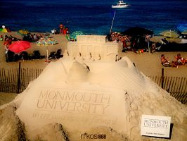 Monmouth Uni Sand Sculpture by Nkosi868