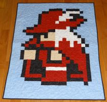 Red Mage Quilt by quiltoni