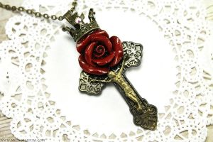 Rosarium Cross Necklace by Necrosarium