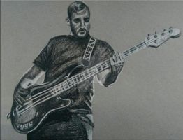 Charcoal Drawing - Alistair Testo by ThrowYourRoses