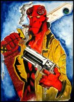 From Hell..with love, Hellboy! by neuronboy42