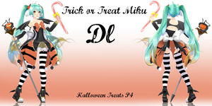 .: Halloween Treats P4 :. Trick or Treat Miku by Crystallyna