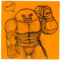 Post-It Juggernaut by DoomCMYK