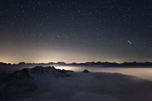 Night Above the Clouds by RobertoBertero