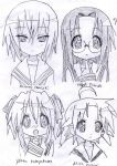 LUCKY STAR Characters 1 by AkatsukiFan505
