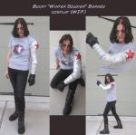 Bucky Barnes Winter Soldier Cosplay (WIP) by arania