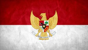 Indonesia Grunge Flag w/ Coat of Arms by SyNDiKaTa-NP