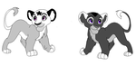 Raina and Itzel as Cubs by RiverSpirit22
