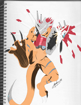 Rizegreymon by Hunter-rider