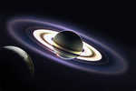 Iapetus: Saturn Eclipse by Wolframia