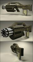 Gatling Sub Machinegun by quicksilverdragon611