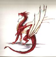 Bayren the Epic red dragon by ChaoticUnityX
