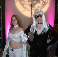 Emma Frost and Black Cat by Stabitha