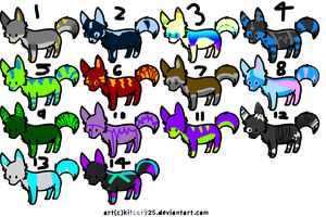 10 POINT ADOPTABLES by epidemic-freakhound