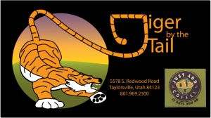Tiger by the Tail Coffee Label by Jennamation