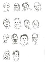 Co-workers Caricatures by artsavant