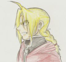 Edward Elric colored pencils by witchiamwill