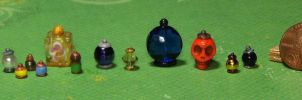 Miniature Potion Bottles Sampler Lot by Kyle-Lefort