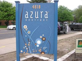 Azura HDU Carved Sign by signcrafter