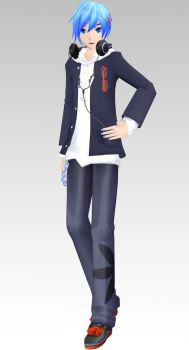 MMD DT School Uniform Parka Kaito Dl by Rin-Chan-Now