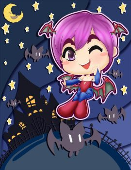 Lilith with Her Bats by kendaya