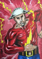 Golden Age Flash Sketch Card by aldoggartist2004