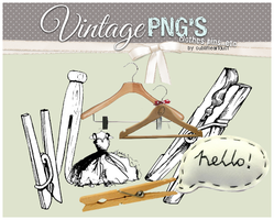 vintage clothes pins+ PNG by SublimeArtDusT