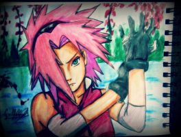 Sakura Haruno Shippuden - Drawing , dibujo by GuillermoAntil