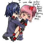 Amu and Ikuto Fanart by iATEaCAKEmonster