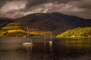 Loch Leven Boats 3 by ikthius