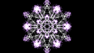 purple snow flake by the-awesomest-one