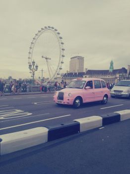 Pink Taxi by Molekuele