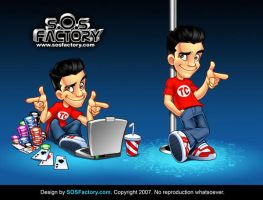 Mascot design for Tyler Cruz by SOSFactory