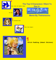 TOP 5 WANTED MUGEN CREATIONS by Sonicbooom1212
