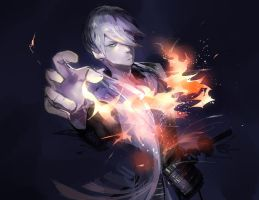 Light em up -BASARA mitsunari by Rihori