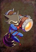 Rocket Raccoon 2.0 by JuliaMadrigal