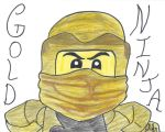 Golden Ninja (Ninjago) by fullhousekissrox