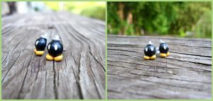 Super Mario Bob-omb Earrings - Video Game Fanart by Tsurera