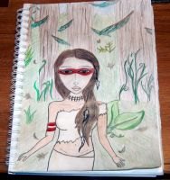 lady in the woods by RaheHeul
