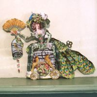 French Peacock Lady Paper Doll by rhondasoriginals