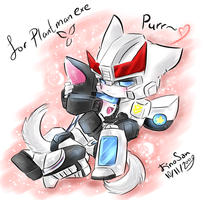 Prowl Jazz -cuddling kittes- by JinoSan
