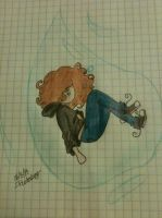 Stuck in a water drop by FallOutGirlxD