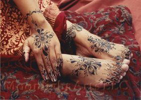 Henna hands and feet by Moonlight-Arts