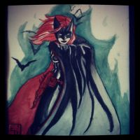 Batwoman watercolor by EdSquared